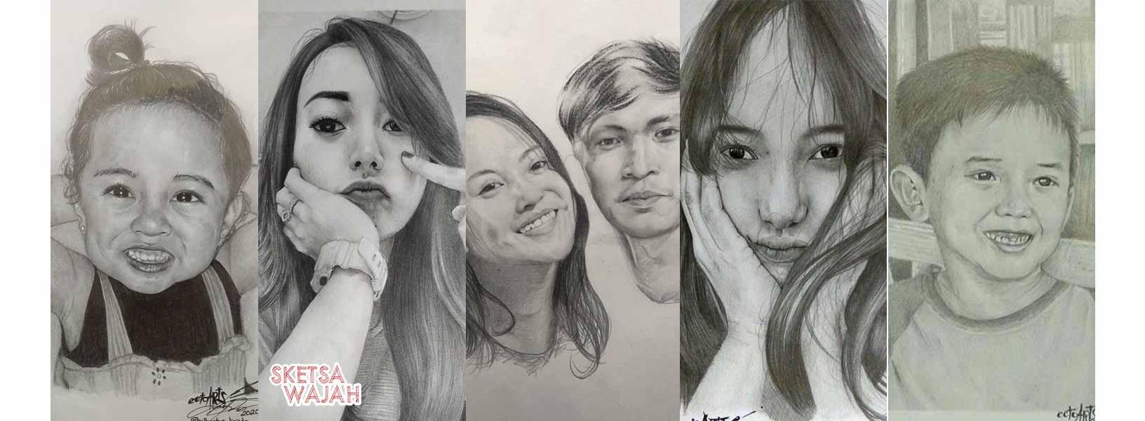 Karya Albertus Kristo sketcher Sketsa Wajah