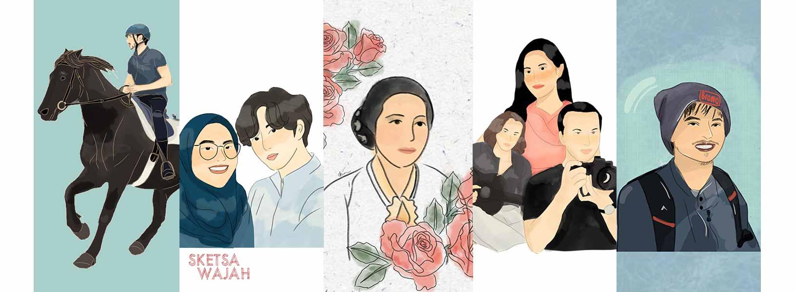 Karya Anisa Nur Anggraini sketcher Sketsa Wajah
