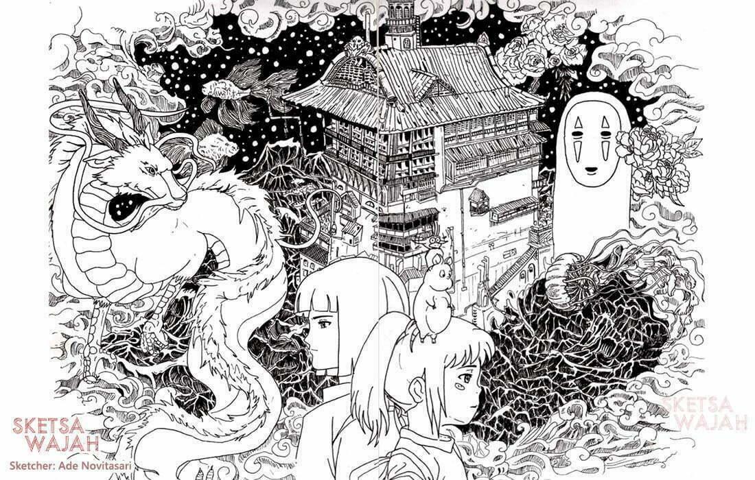 Manga Detail Pen Drawing Ade Novitasari 2