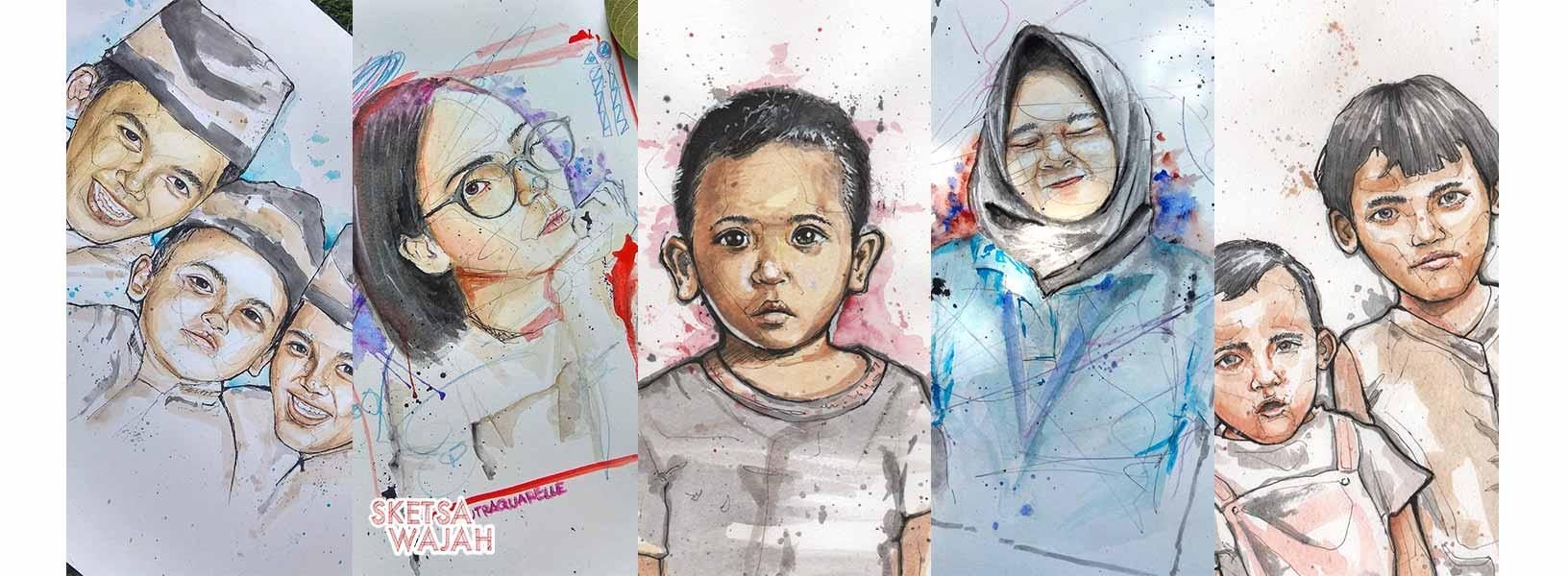 Karya Bagus Putra sketcher Sketsa Wajah