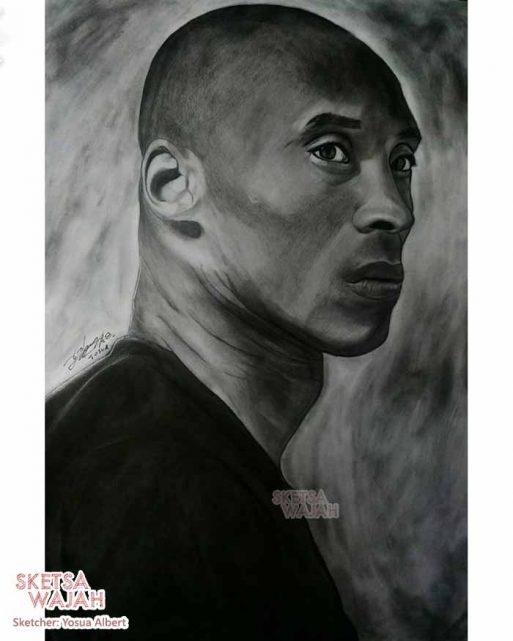 Sketsa realis hitam putih Yosua Albert 3