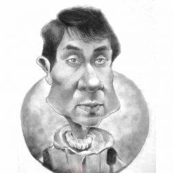 Karikatur Hitam Putih Septian Aditya Maldini 1