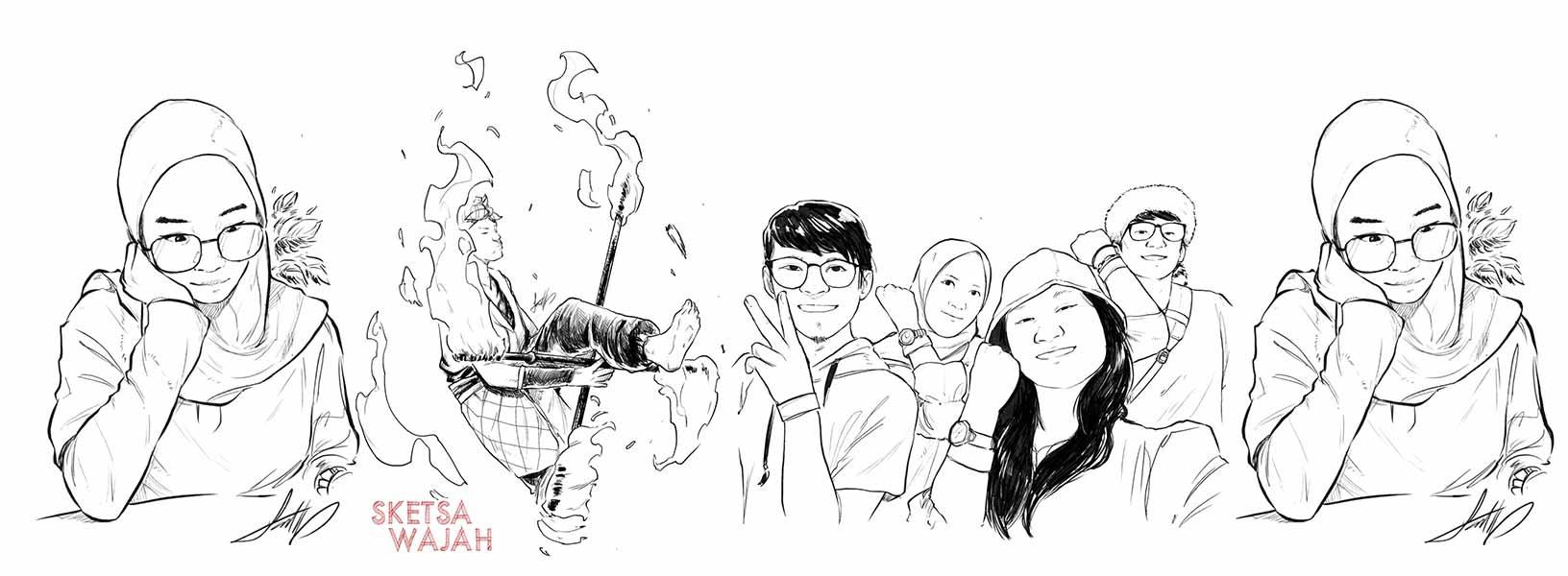 Karya Alpha Rocket sketcher Sketsa Wajah