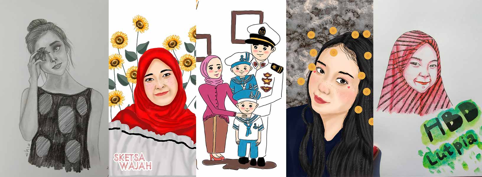 Karya Chianty Putri sketcher Sketsa Wajah