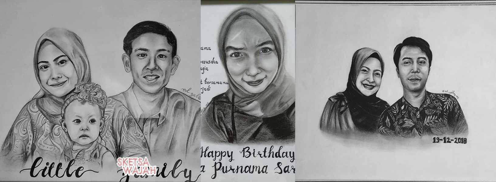 Karya Dhea Nurmala sketcher Sketsa Wajah