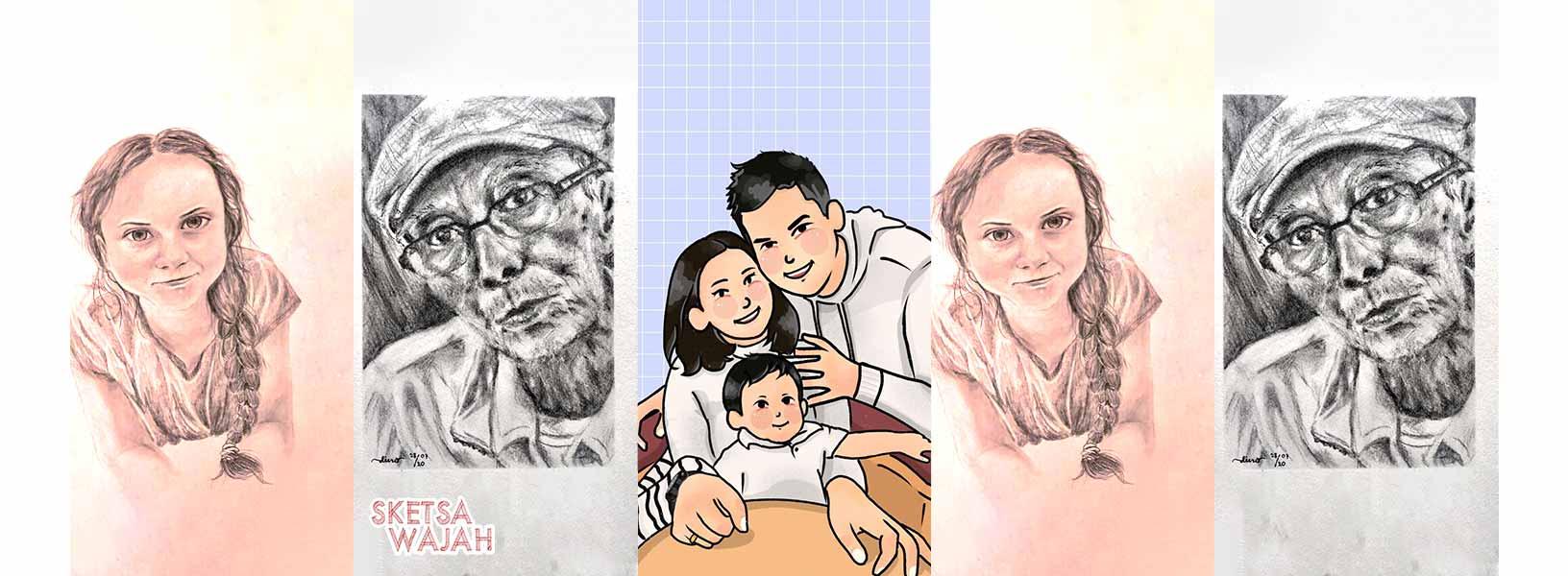 Karya Diah Nopialita sketcher Sketsa Wajah