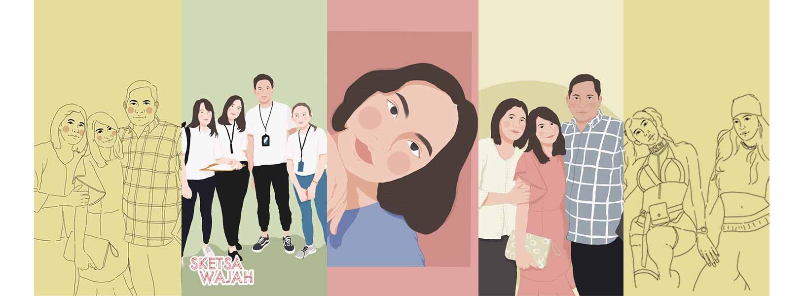 Karya Ikeshia Grace sketcher Sketsa Wajah