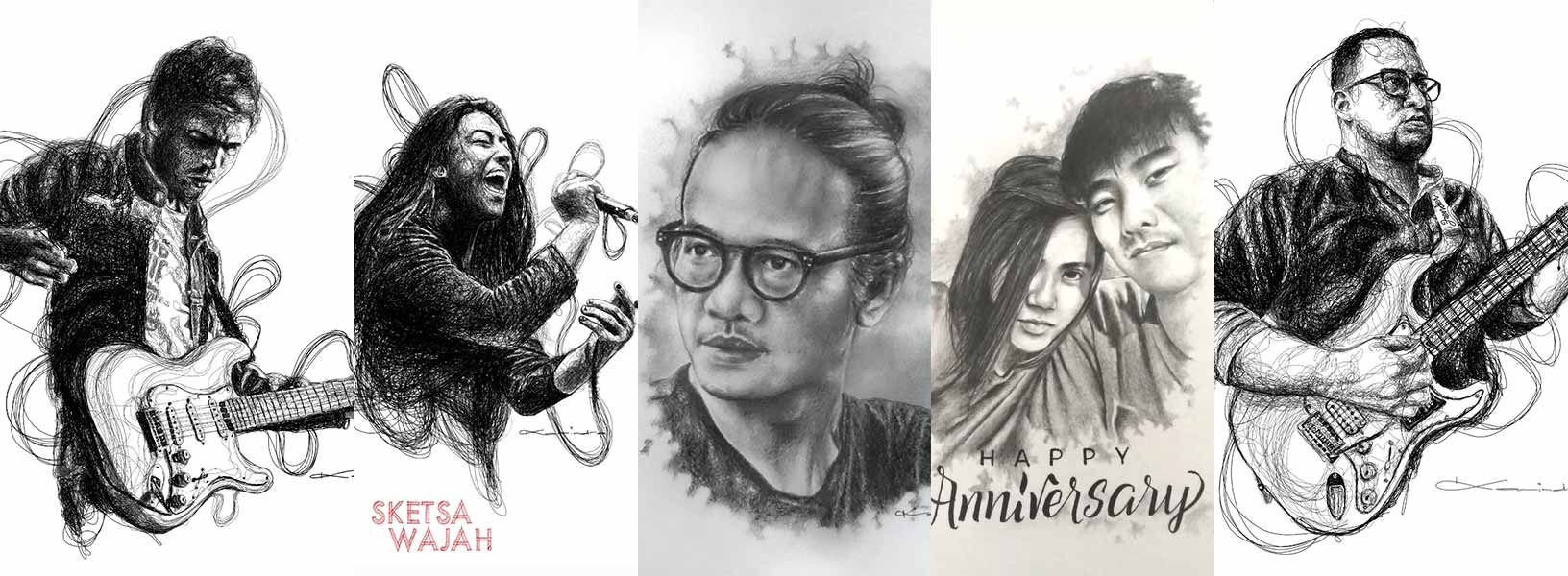Karya Karindra Yudhanegara sketcher Sketsa Wajah
