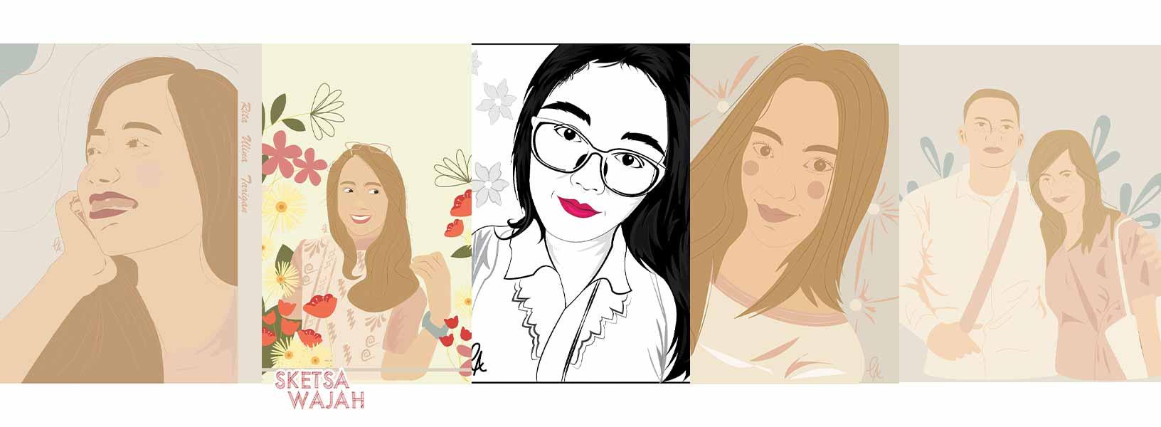 Karya Loise Anggraini sketcher Sketsa Wajah