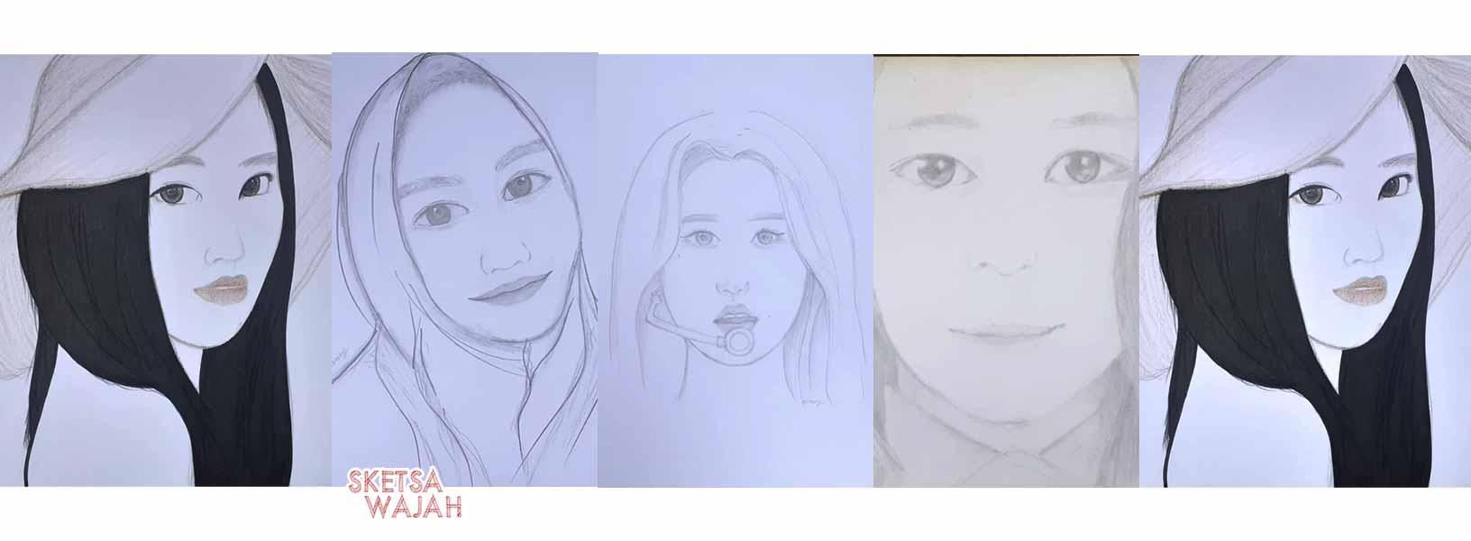 Karya Mercy Delzarini Hanafi sketcher Sketsa Wajah