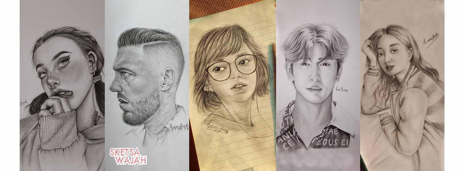 Karya Noer Hanifah Suganda sketcher Sketsa Wajah