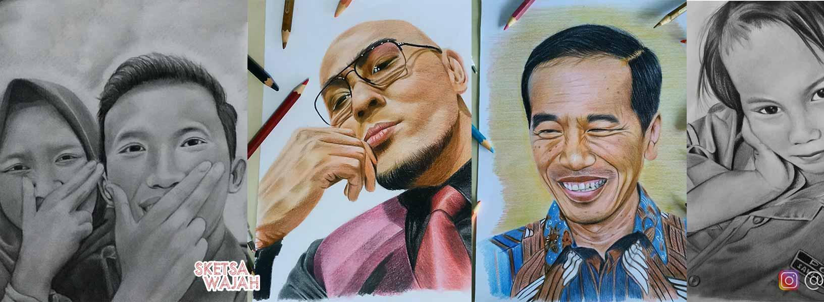 Karya Nurcahya Muhammad Ridwan sketcher Sketsa Wajah