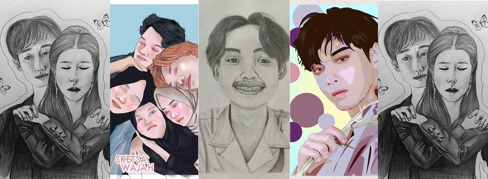 Karya Siti Faradhilla sketcher Sketsa Wajah