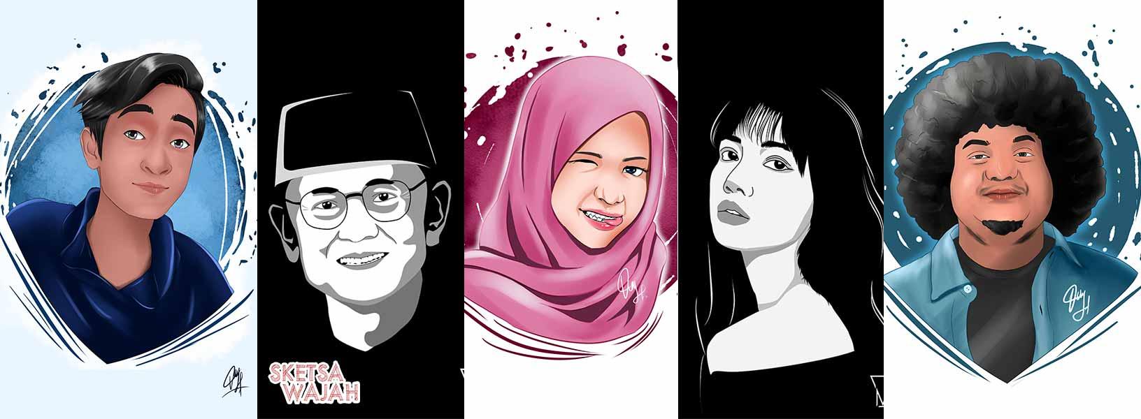 Karya Vicky Fajar sketcher Sketsa Wajah