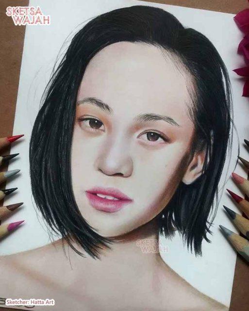 Sketsa Wajah Realis Berwarna Hatta Art 1