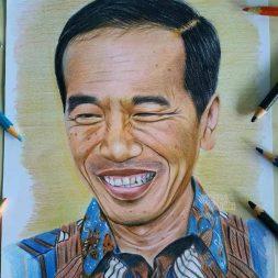 Sketsa Wajah Realis Berwarna Nurcahya Muhammad Ridwan 2