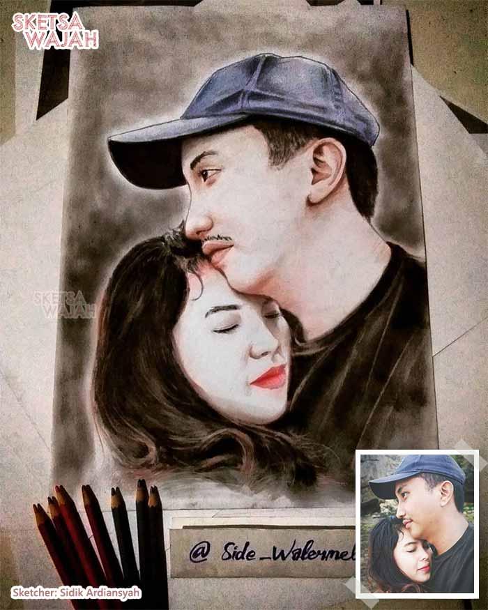 Sketsa Wajah Realis Berwarna Sidik Ardiansyah 2