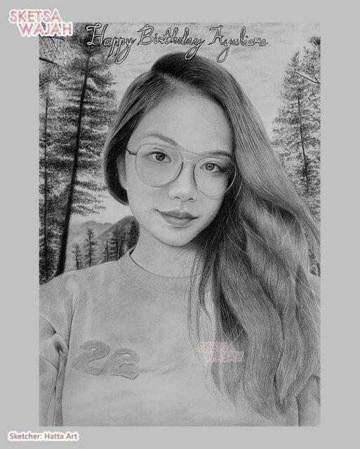 Sketsa Wajah Realis Hitam Putih Hatta Art 6