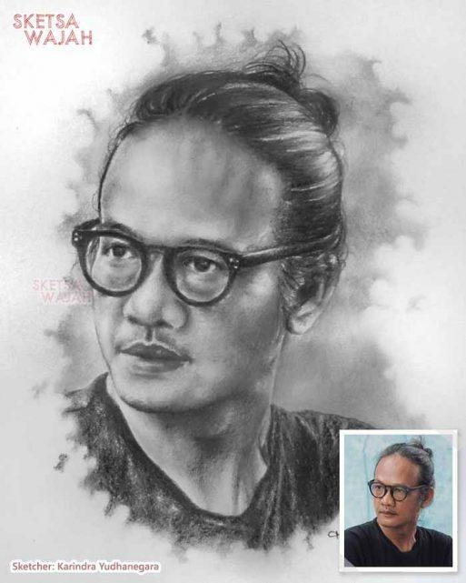 Sketsa Wajah Realis Hitam Putih Karindra Yudhanegara 1