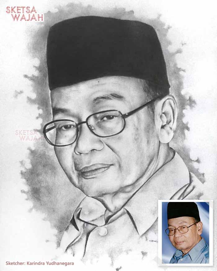 Sketsa Wajah Realis Hitam Putih Karindra Yudhanegara 2