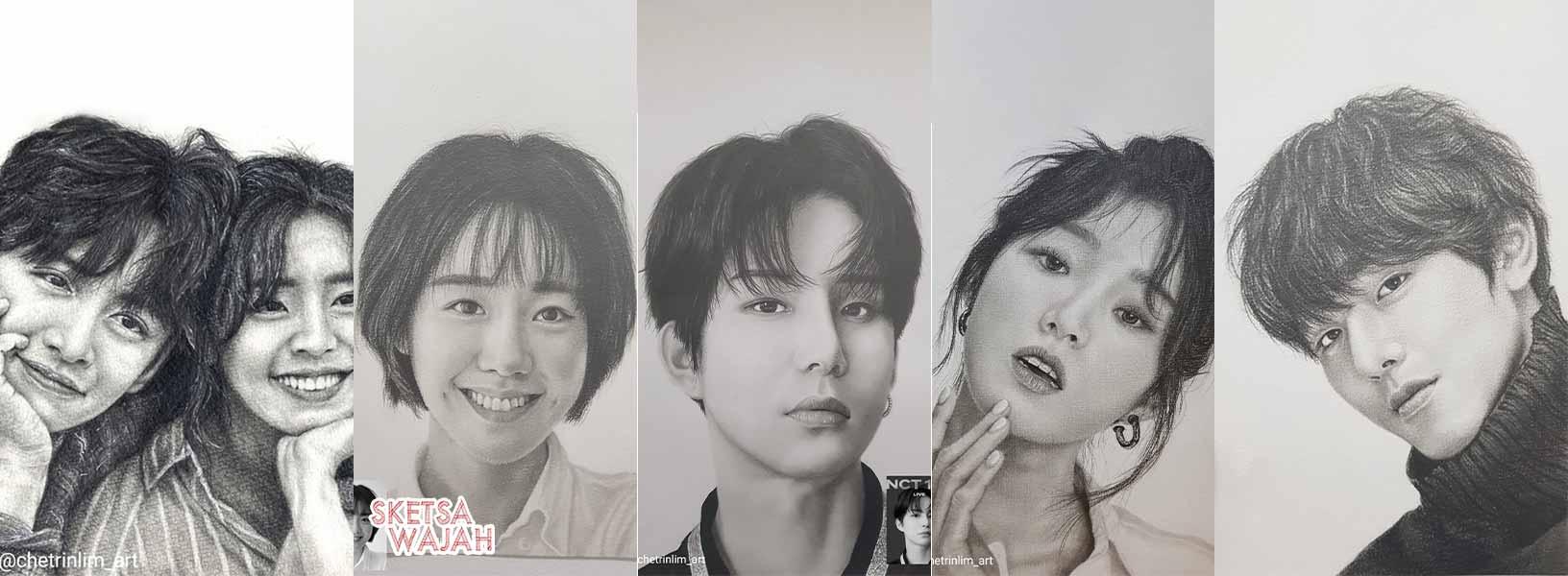 Karya Chetrin Lim sketcher Sketsa Wajah