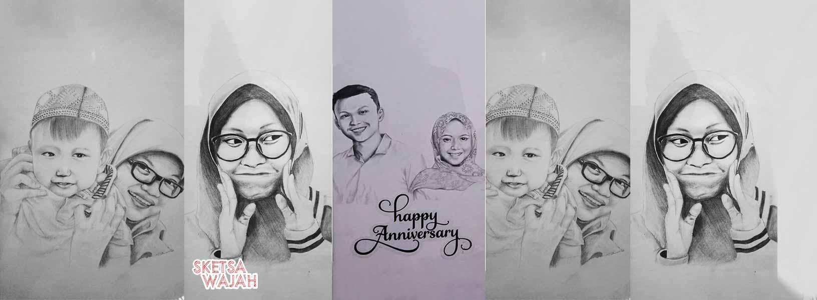 Karya Taufik Ismail sketcher Sketsa Wajah