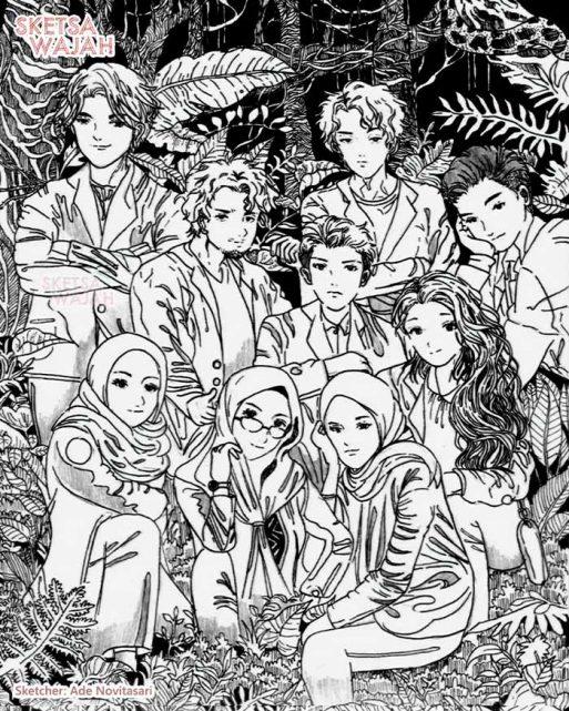 Manga Detail Pen Drawing Ade Novitasari 3