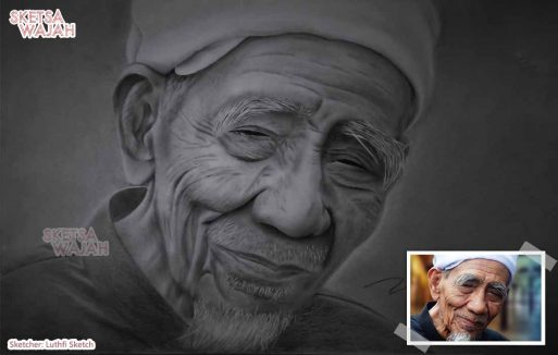 Sketsa Wajah Hitam Putih Luthfi Sketch 2