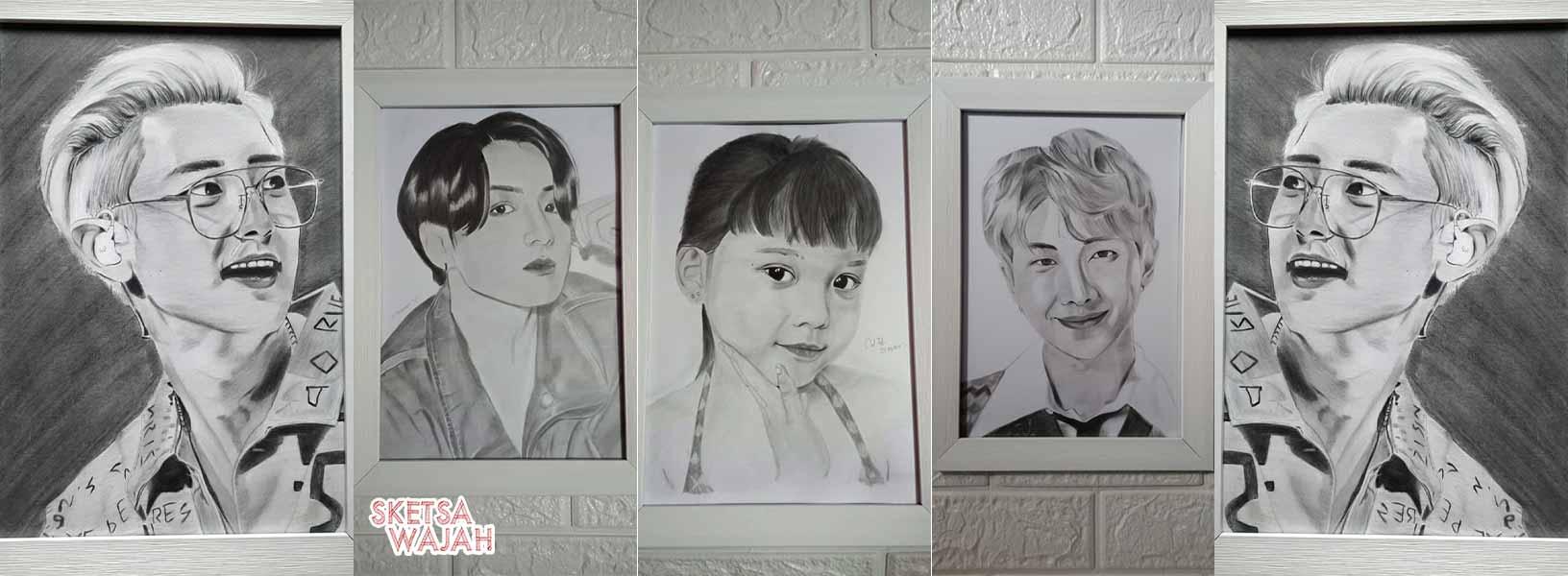 Karya An Nisa sketcher Sketsa Wajah