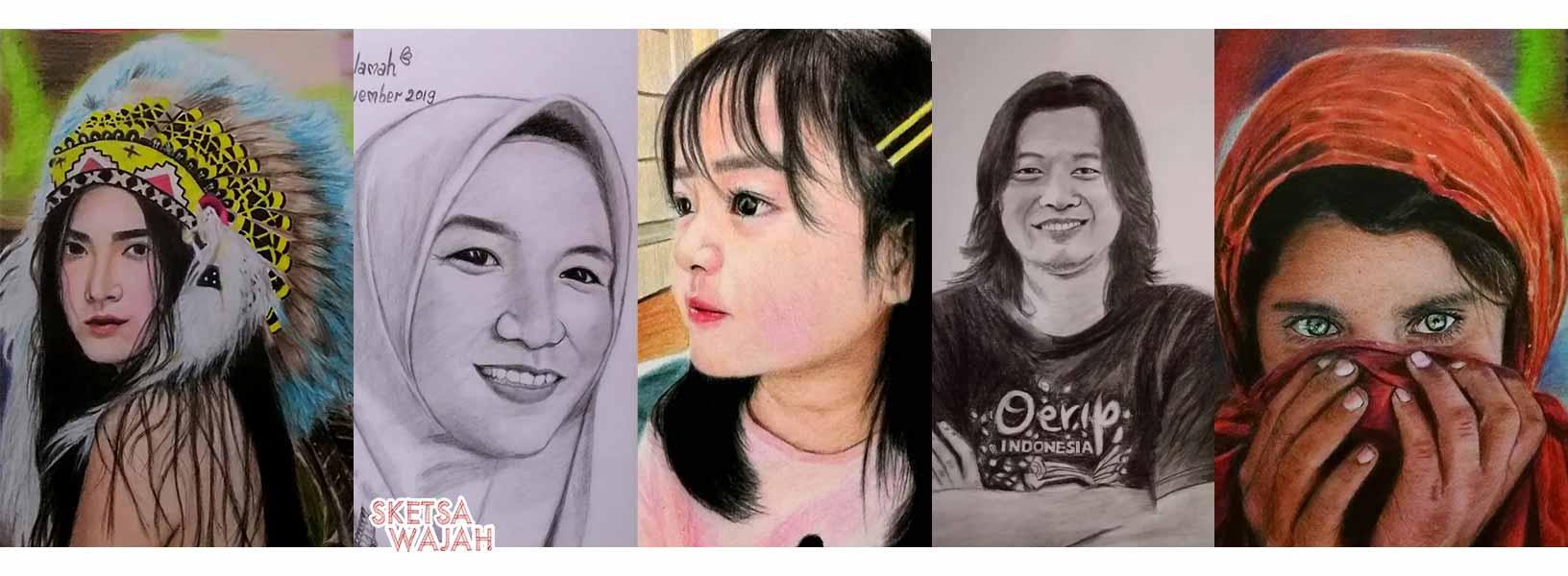 Karya Fatintania qn sketcher Sketsa Wajah