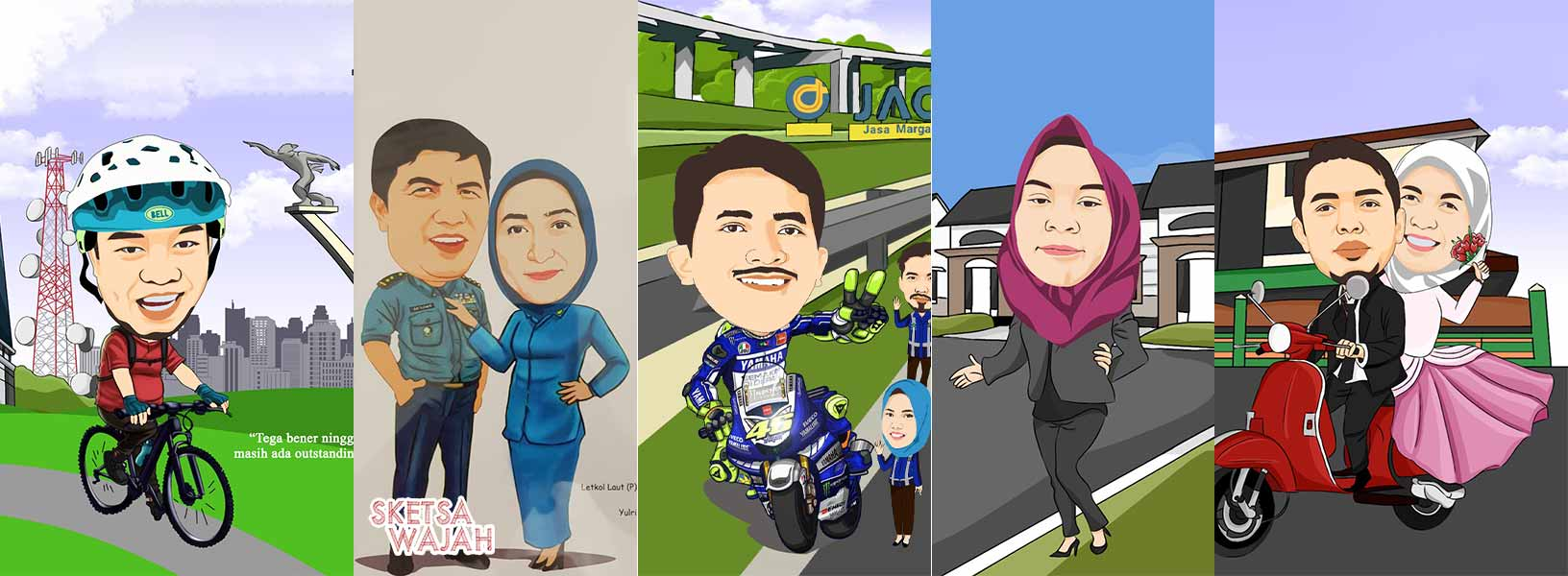 Karya Id Karikatur sketcher Sketsa Wajah