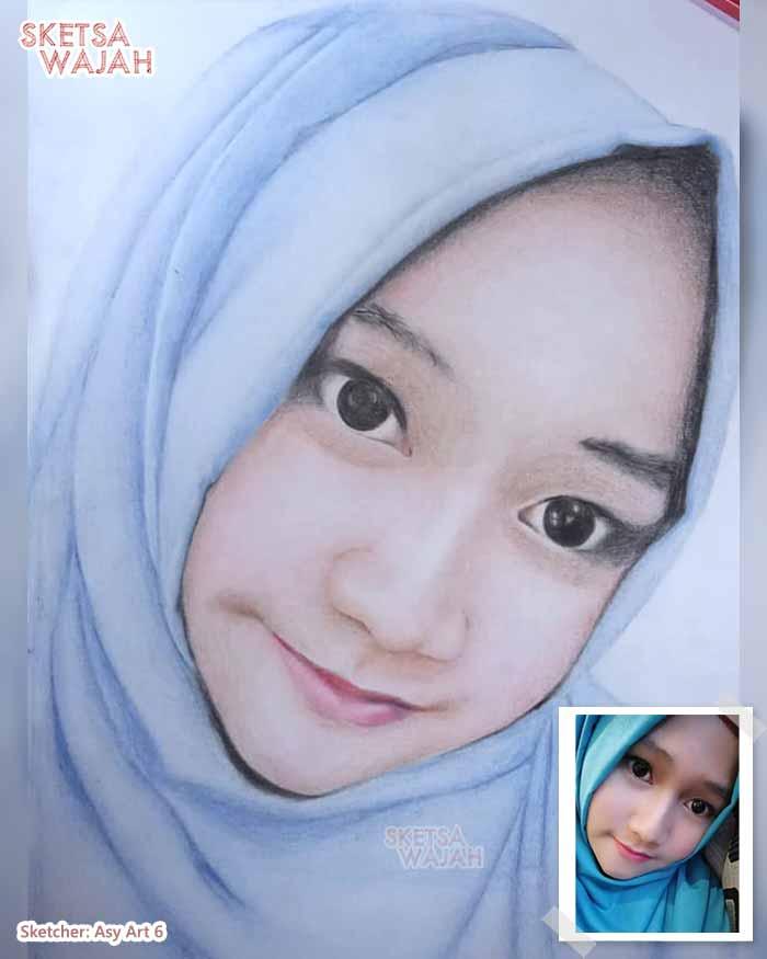 Sketsa Wajah Berwarna Asy Art 1