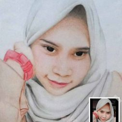 Sketsa Wajah Berwarna Asy Art 2