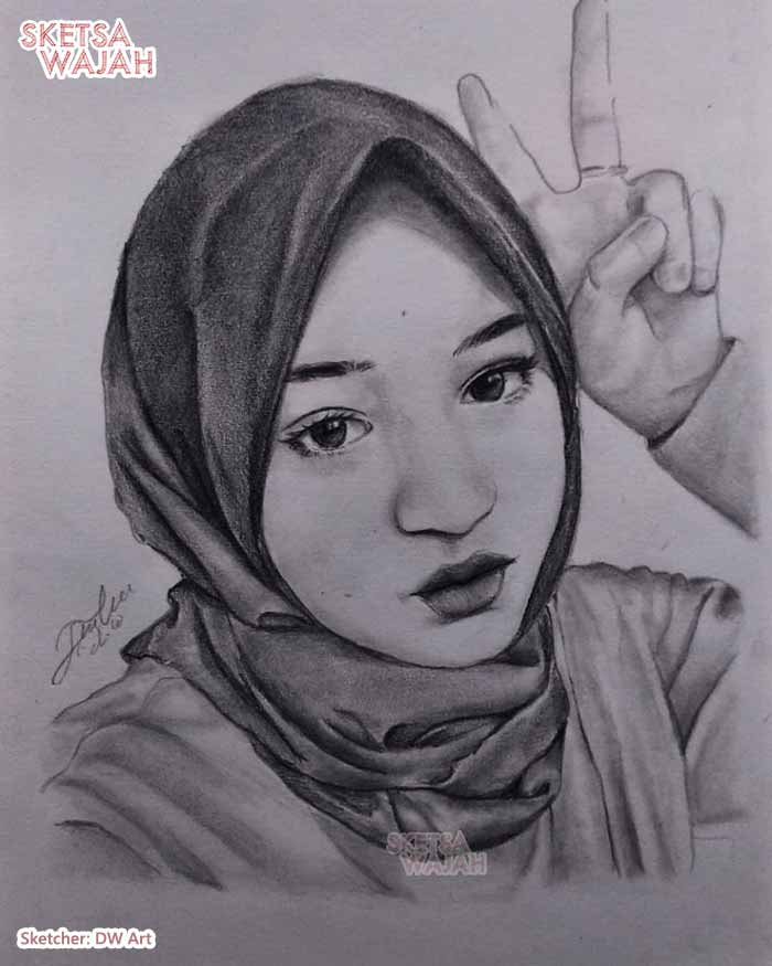 Sketsa Wajah Hitam Putih DW Art 2