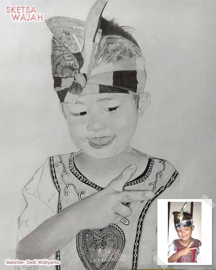 Sketsa Wajah Hitam Putih Dedi Widiyanto 1
