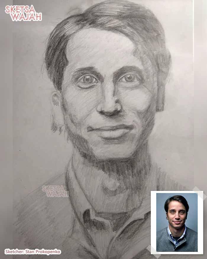 Sketsa Wajah Hitam Putih Stan Prokopenko 1