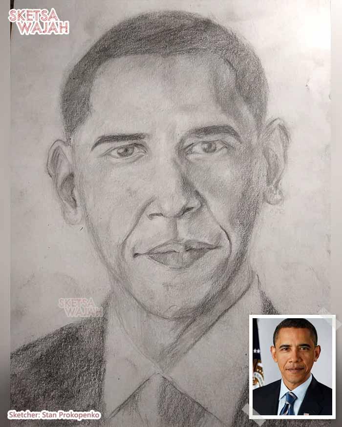 Sketsa Wajah Hitam Putih Stan Prokopenko 2