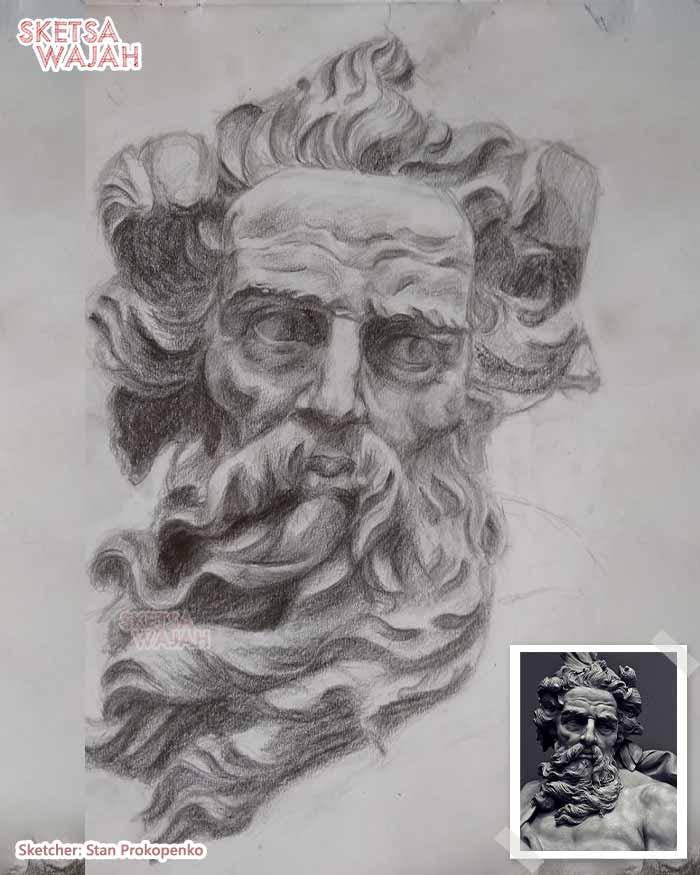 Sketsa Wajah Hitam Putih Stan Prokopenko 3