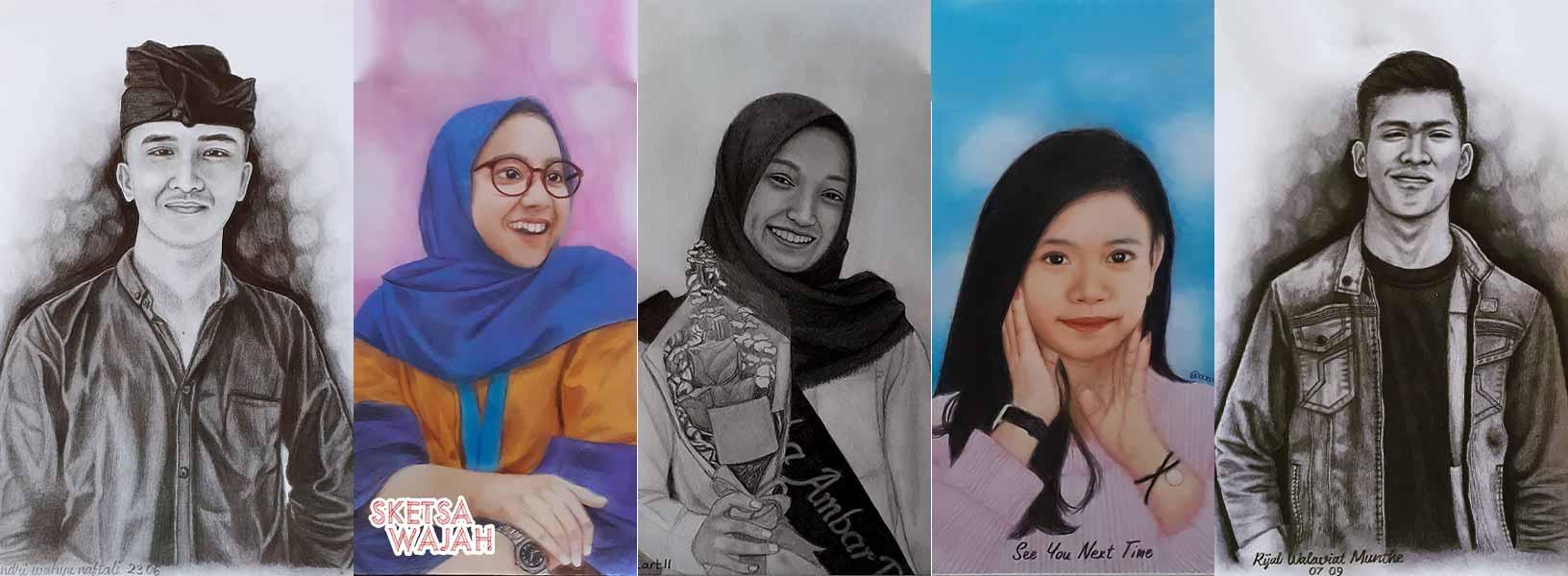 Karya Aza Art sketcher Sketsa Wajah