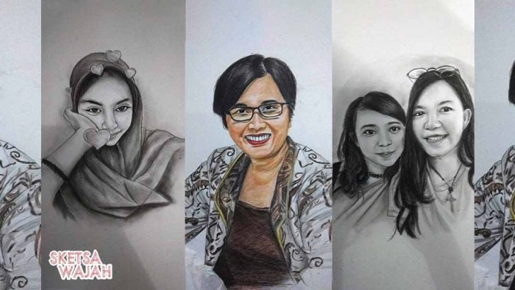 Karya Natalia Art sketcher Sketsa Wajah