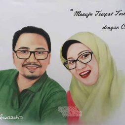 Sketsa Wajah Berwarna Aza Art 2