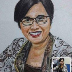 Sketsa Wajah Berwarna Natalia Art 1