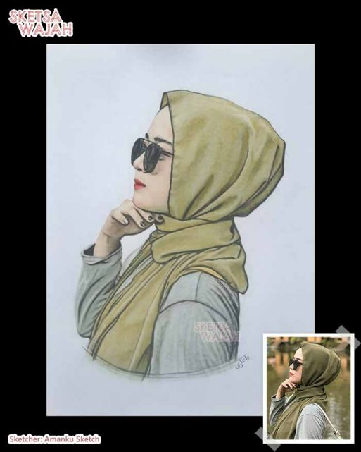 Sketsa Wajah Berwarna Amanku Sketch 9