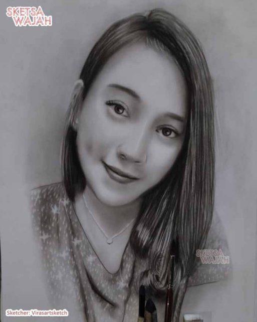 Sketsa Wajah Hitam Putih Arif Sketch 2