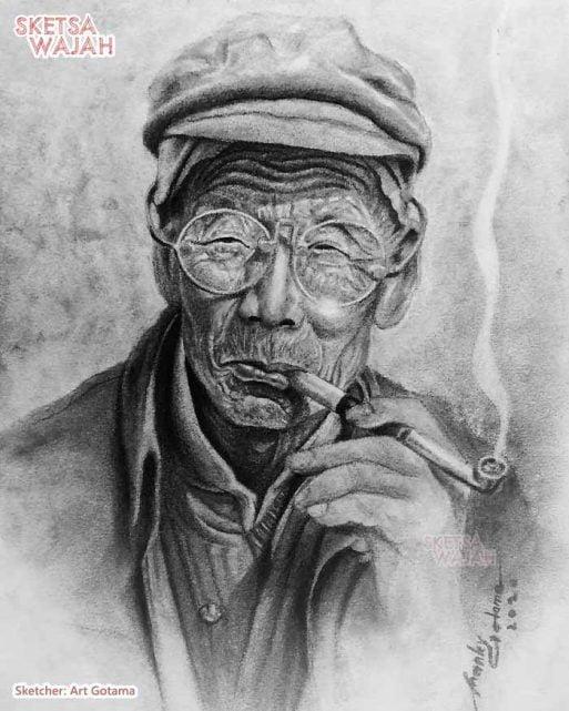 Sketsa Wajah Hitam Putih Art Gotama 7