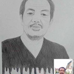 Sketsa Wajah Hitam Putih Cia's Sketch 1