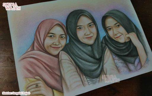 Sketsa Wajah Berwarna Gengaleri Project 1