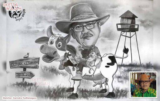 Karikatur Hitam Putih Karindra Yudhanegara 2