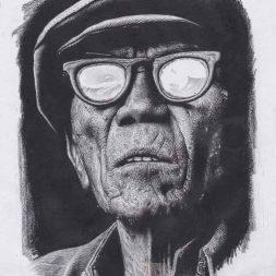 Sketsa Hitam Putih Simple Art Portrait 1